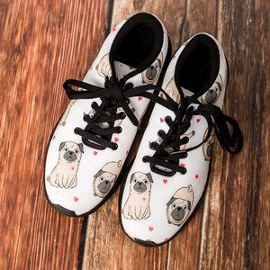 Pug Novelty Sneakers - Size 9
